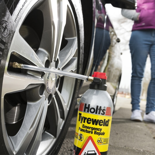 No More Changing Wheels Holts Tyreweld Emergency Puncture Repair!