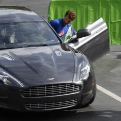 British tennis player Andy Murray gets into an Aston Martin at the Sony Ericsson Open tennis tournament in Key Biscayne