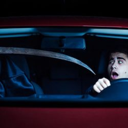 Death in the car. Selected focus on driver