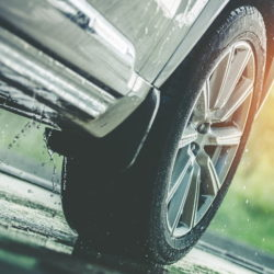 Car driving in the rain tyre maintenance advice