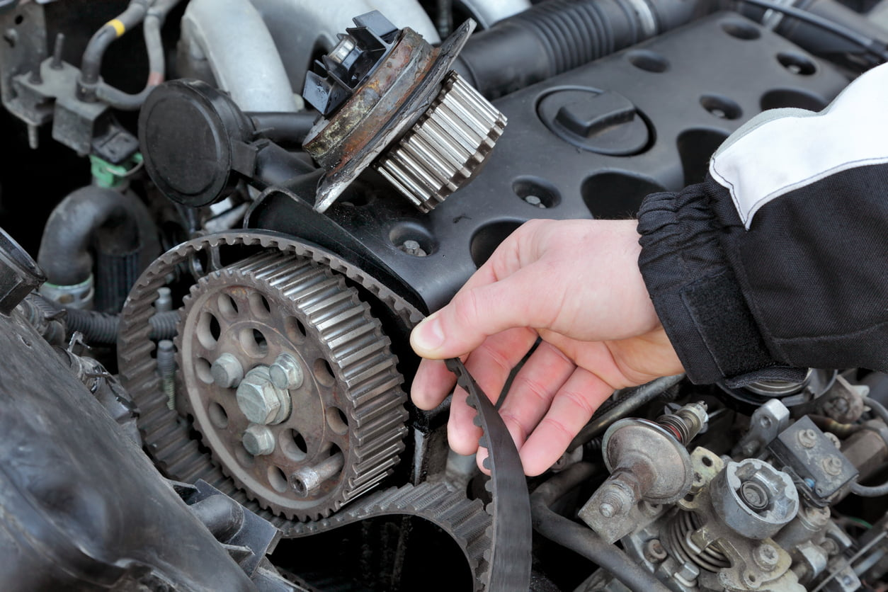 image of a car being serviced