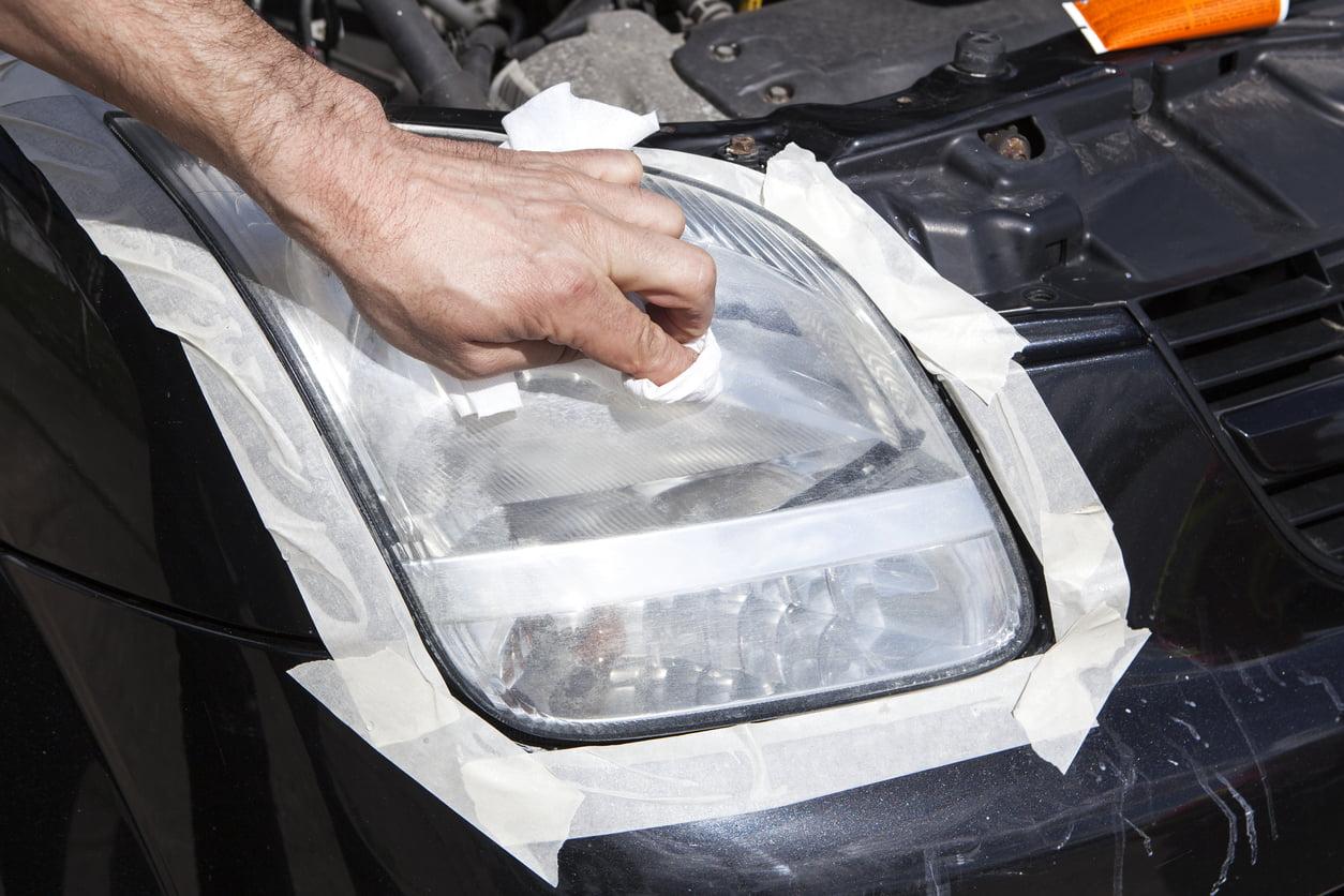 polishing fixed headlight