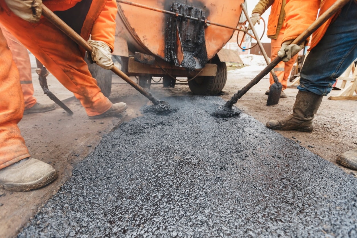 image of road resurfacing