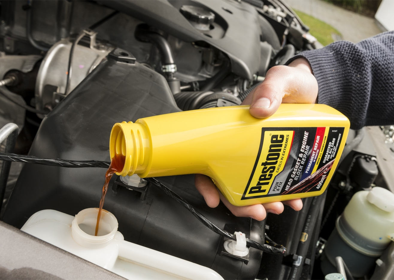 How To Put Antifreeze In Car >> Putting Prestone Head Gasket & Engine Block Repair to the Test