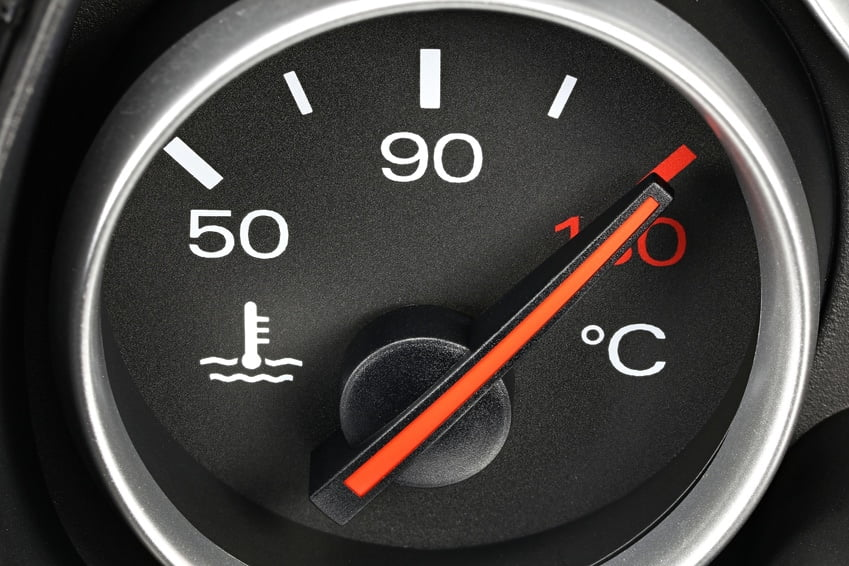 what happens if my car's temperature get's too high