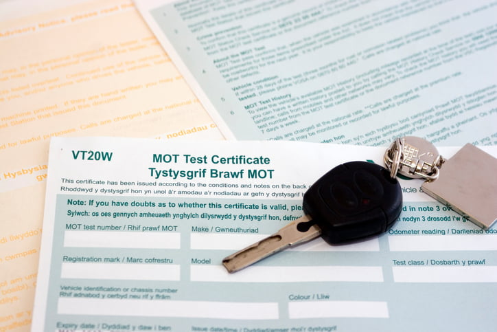 UK/Welsh MOT certificate