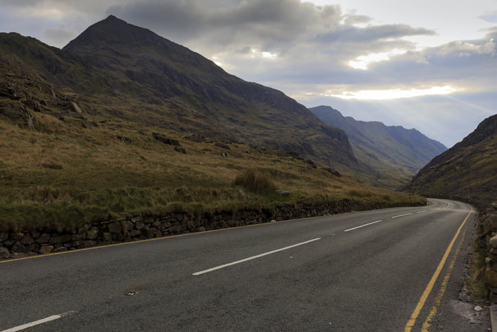 Road in Snowdonia, Wales