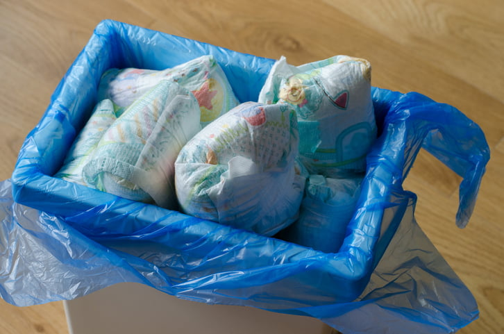 nappies used as petrol