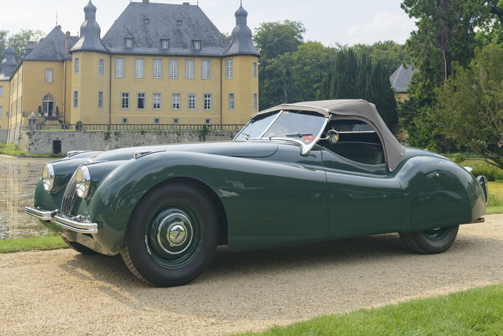 Jaguar XK 120 classic sports car