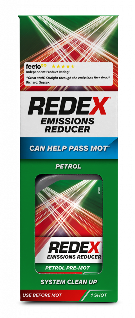 A bottle of redex pre-mot petrol