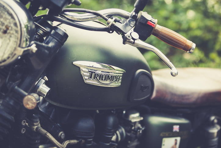Leonberg, Germany - September 3, 2016: special vintage triumph motorbike at the glemseck101 cafe racer bike weekend in leonberg, germany. thousands of motorbiker show their bikes at this weekend.