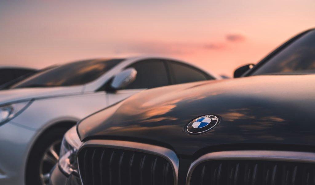 BMW Car in sunset