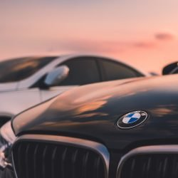 BMW Car in sunset