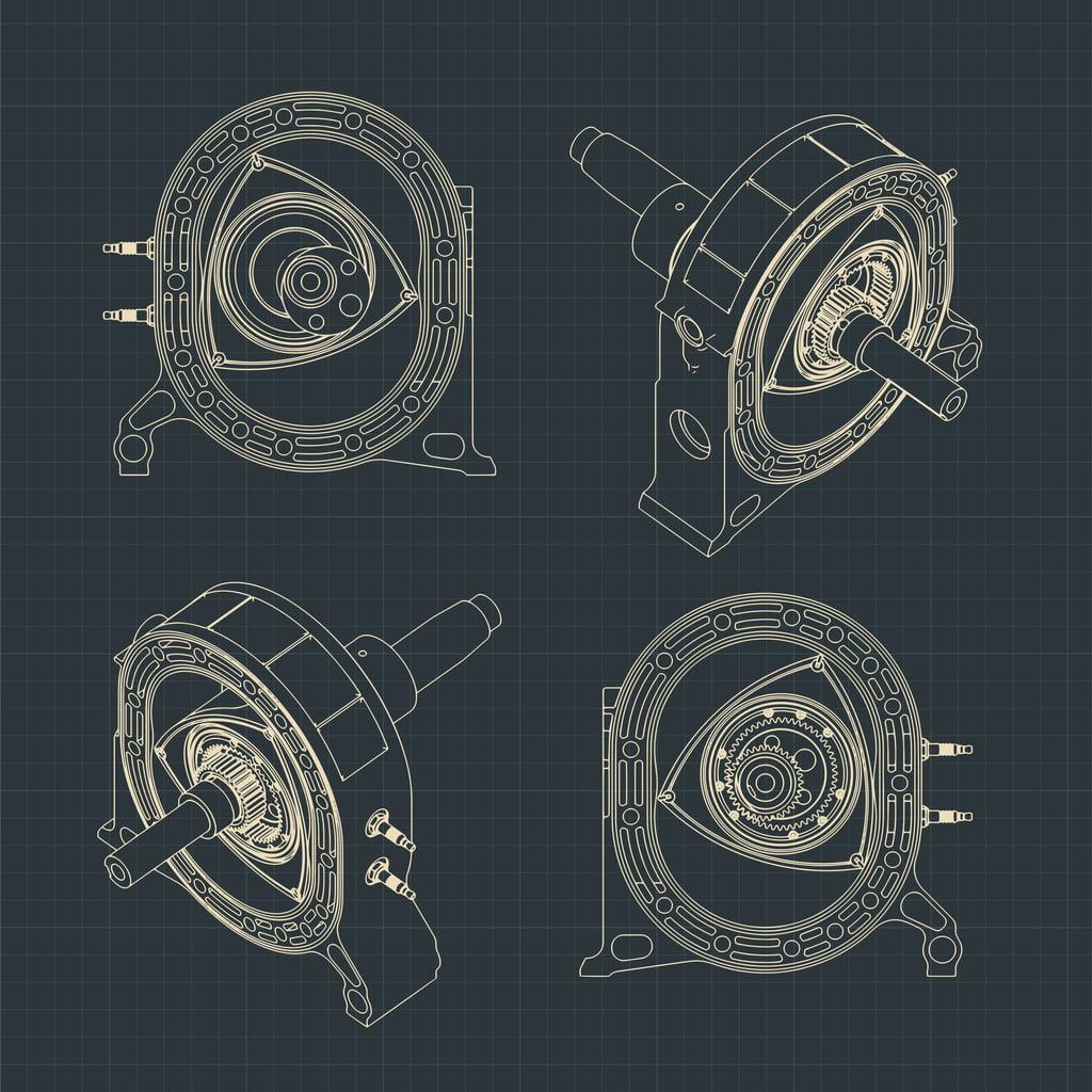 rotary engine blue print