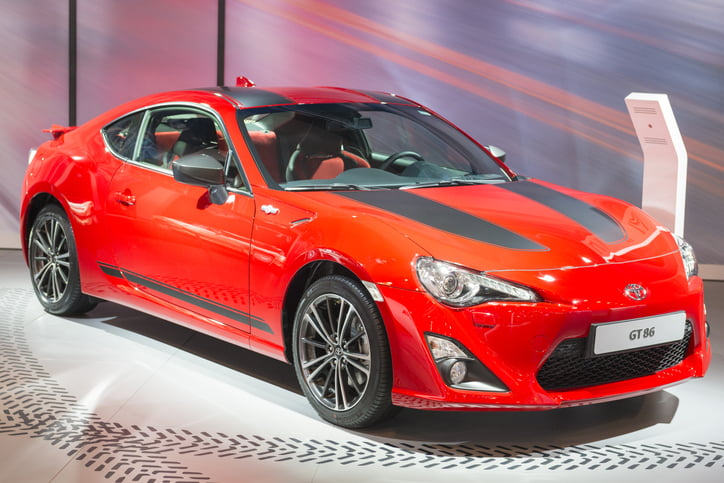 Toyota GT 86 coupe sports car