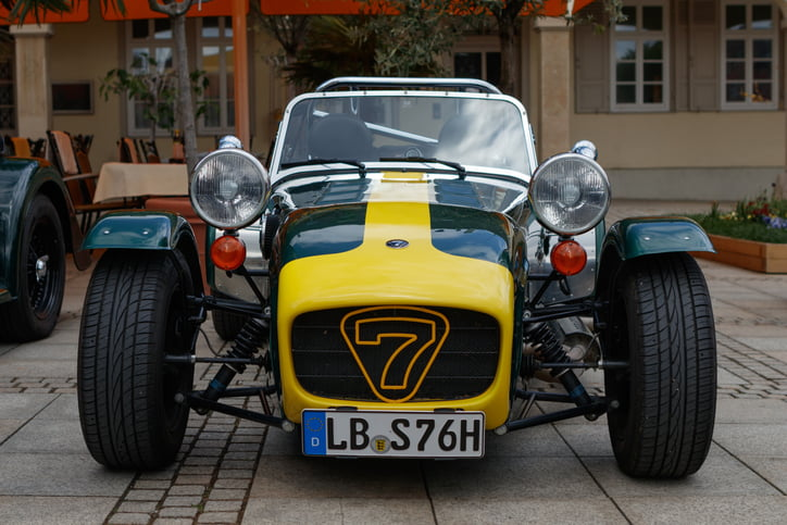 Caterham Seven at the eMotionen event on April 23, 2017 in Ludwigsburg, Germany
