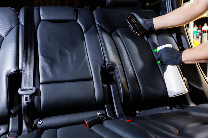 Cleaning leather car seats