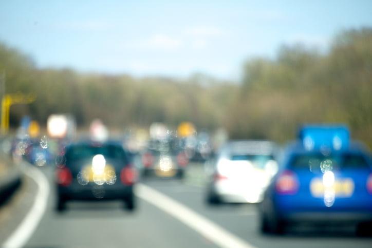 Traffic jam causes rat running in UK