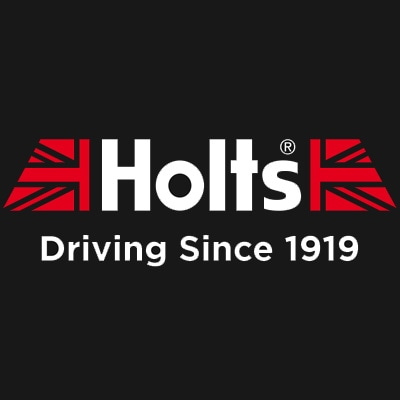 Holts Logo Flag Black CMYK