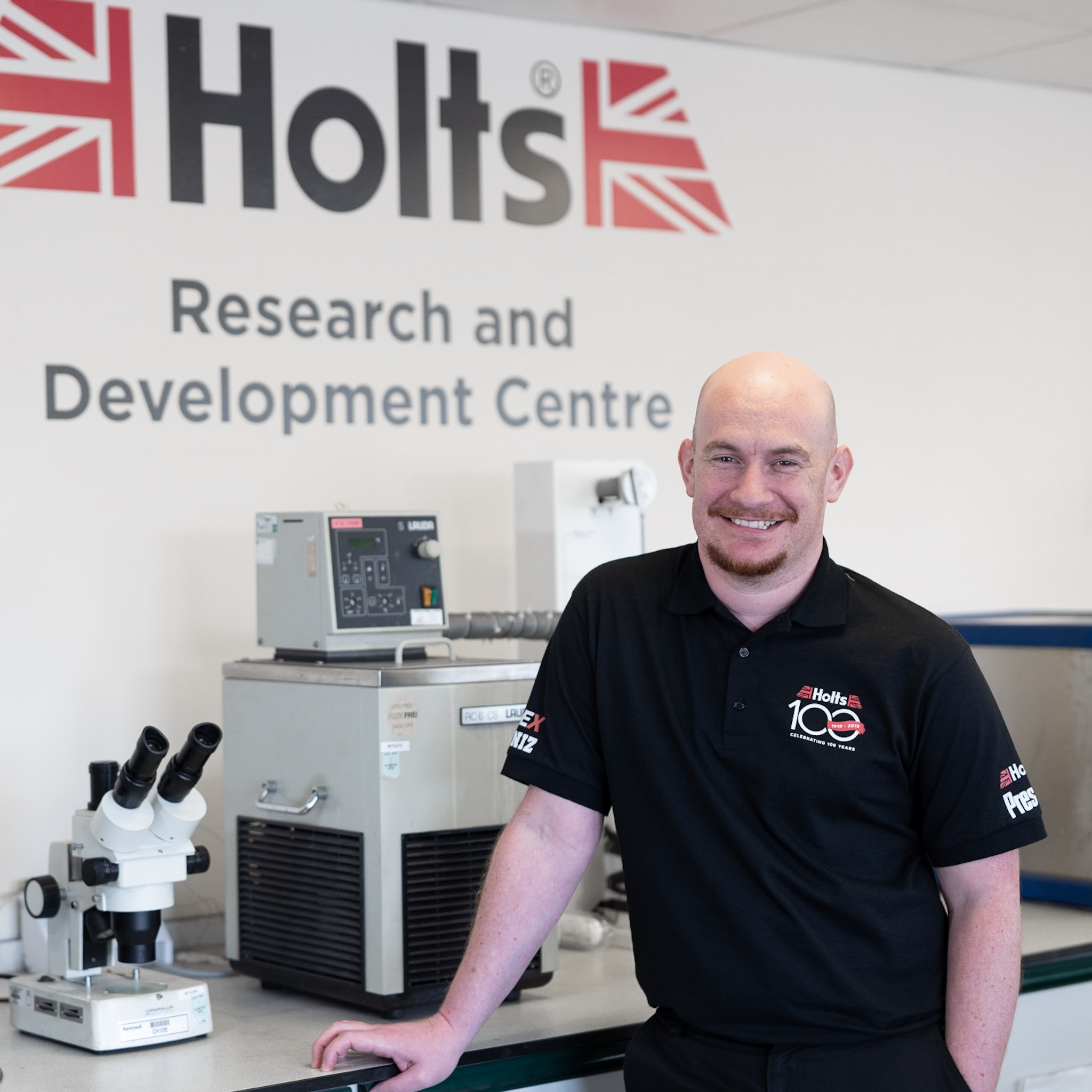 Phil who works in the lab at holts