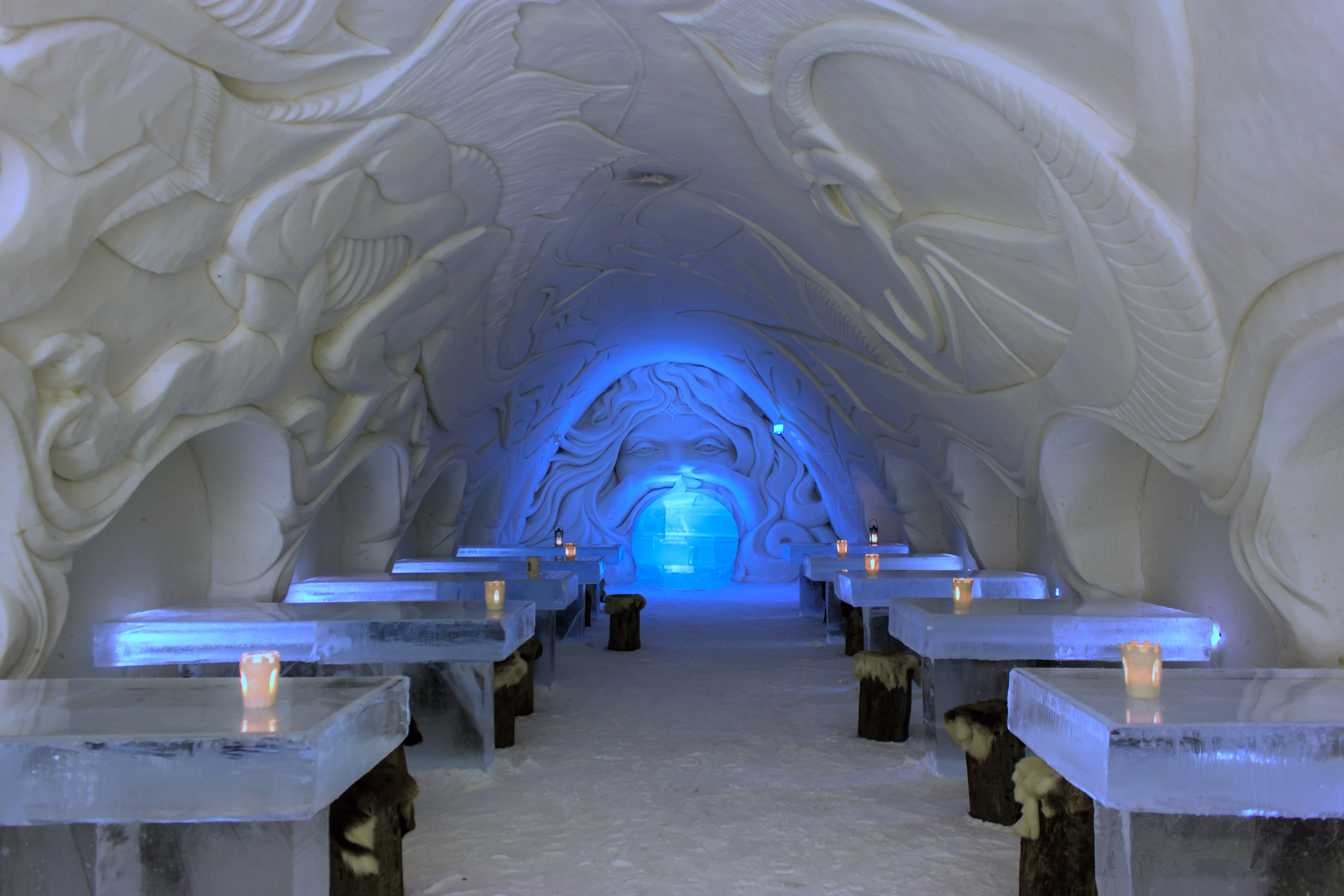 Dining room in the SnowCastle