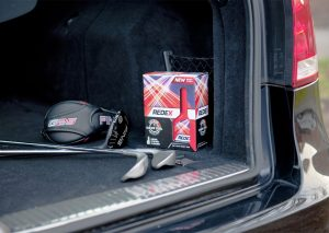 diesel boot pack with golf clubs