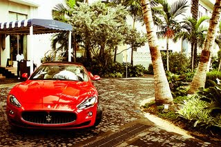 Red Sports Car Miami
