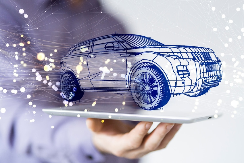 self driving car connected